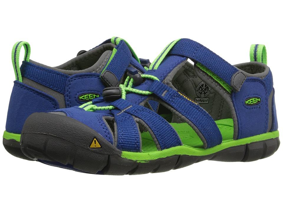Keen Kids Seacamp II CNX (Little Kid/Big Kid) (Blue/Jasmine Green) Kids Shoes