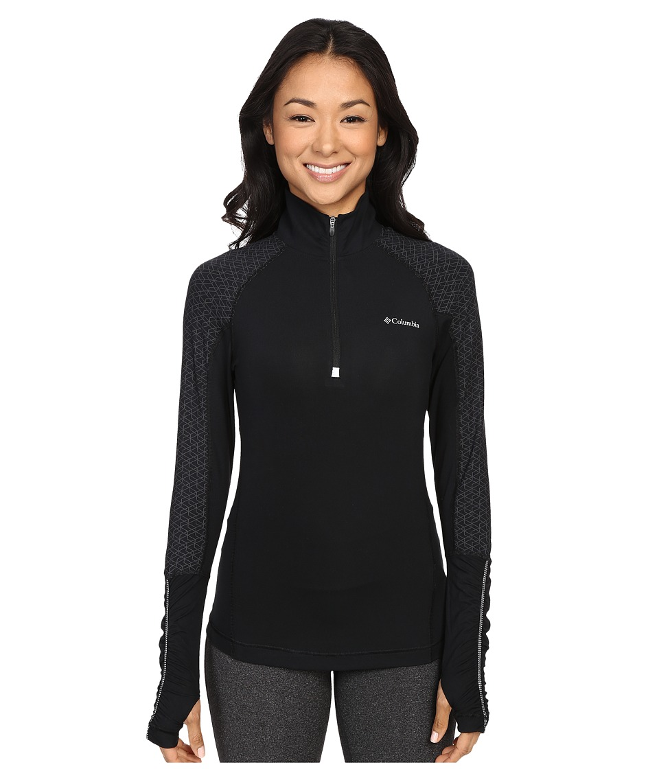 Columbia Trail Flashtm 1/2 Zip Shirt (Black) Women