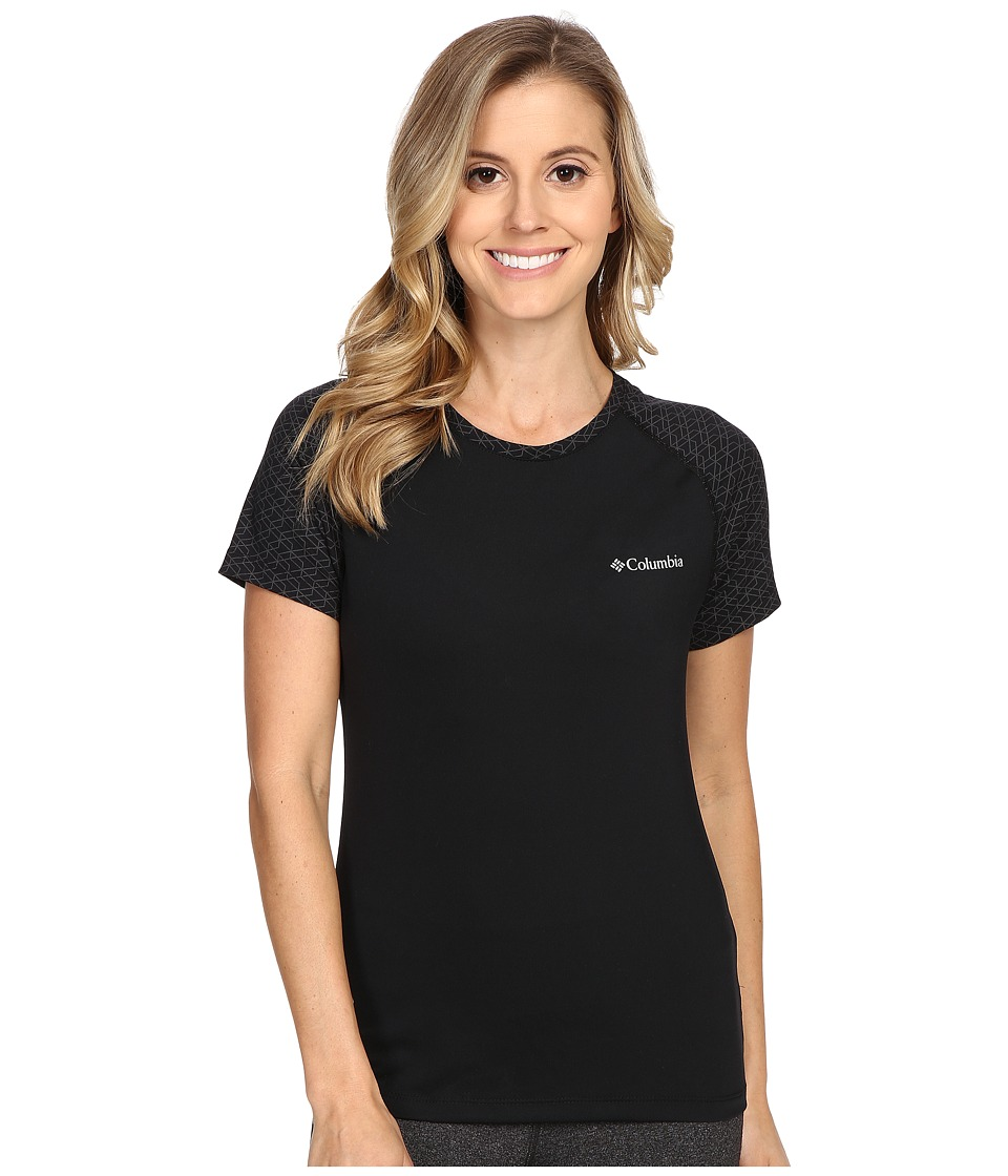 Columbia Trail Flashtm Short Sleeve Shirt (Black) Women