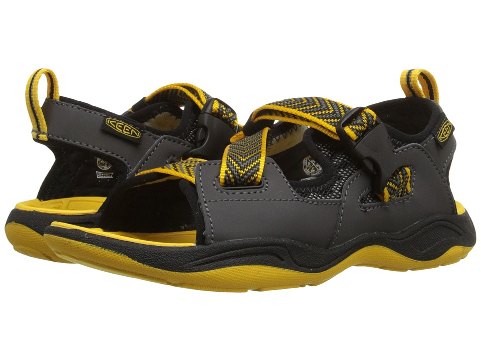Keen Kids Rock Iguana Little Kid/Big Kid Black/Yellow Boys Shoes