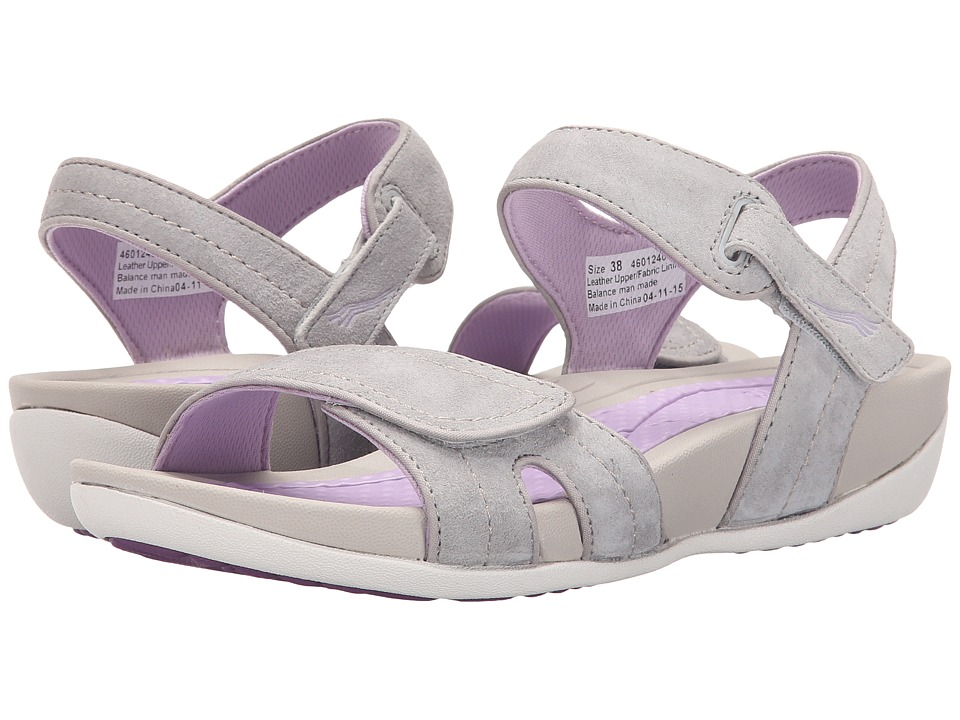 Dansko Kami Grey/Lavender Suede Womens Sandals