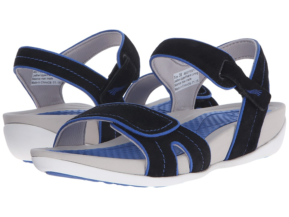Dansko Kami Black/Cobalt Suede Womens Sandals