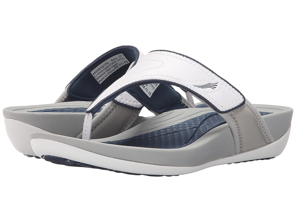 Dansko Katy 2 White/Navy Smooth Womens Sandals
