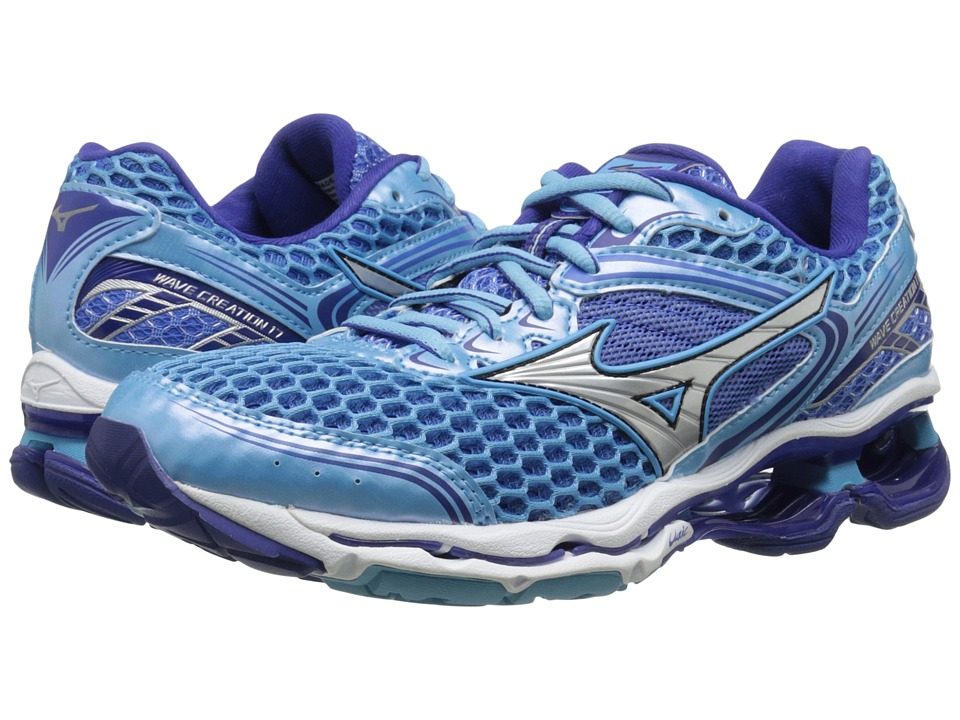 Mizuno Wave Creation 17 Blue Grotto/Silver/Clematis Blue Womens Running Shoes