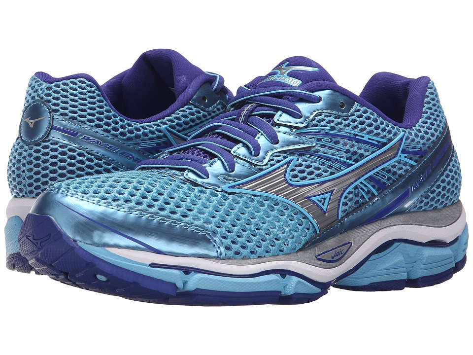 Mizuno Wave Enigma 5 Blue Grotto/Silver/Clematis Blue Womens Running Shoes
