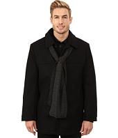 IZOD - Wool Car Coat with Scarf
