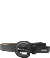 Cole Haan - 25mm Metallic Pebble Belt with Self Covered Buckle
