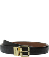 Cole Haan - 25mm Reversible Embossed Croco Belt
