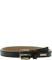 Cole Haan - 25mm Patent Belt with Cole Haan Logo Plaque Under Tab