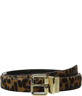 Cole Haan - 25mm Reversible Printed Haircalf to Patent Belt