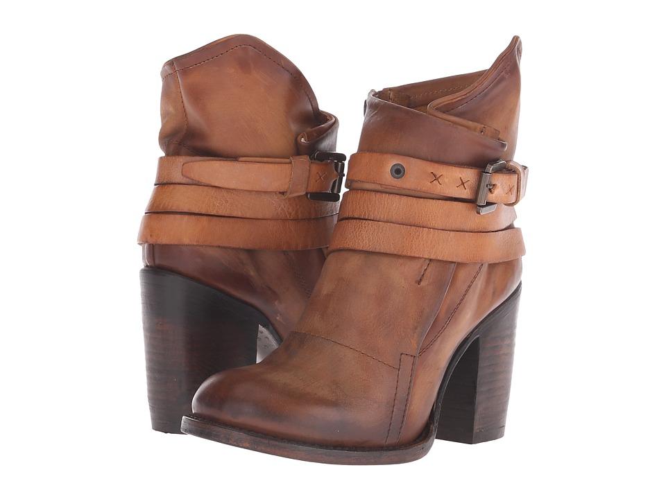 Freebird Blaze Cognac Womens Zip Boots