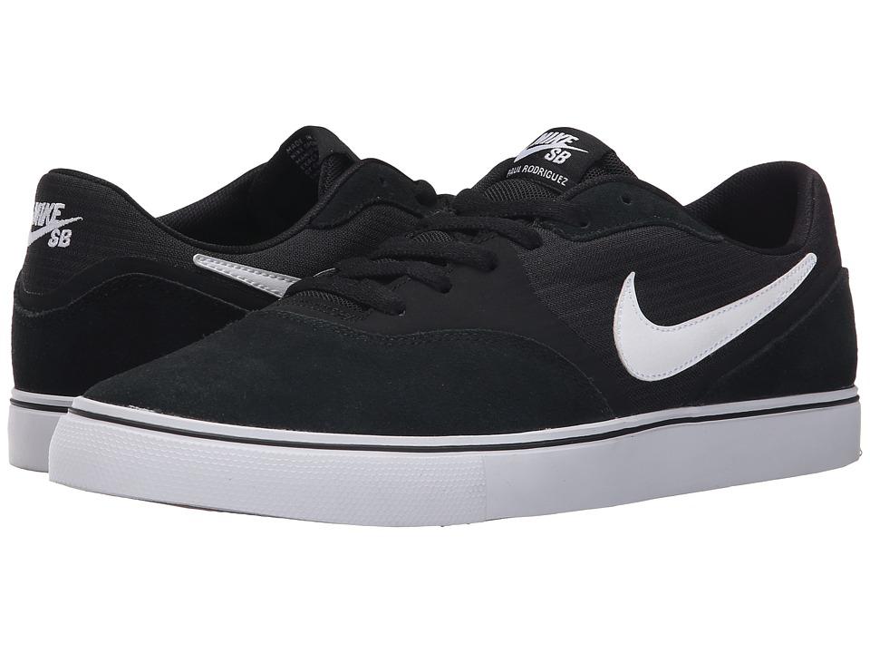 ... nike sb paul rodriguez 9 vr black gum light brown white mens skate shoes