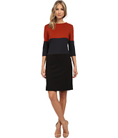Christin Michaels - Rebecca Color Block Dress