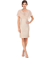 Jessica Howard - One-Piece Drape Neck Capelet Sheath Dress