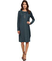 Jessica Howard - Mock Two-Piece Drape Jacket Dress with Necklace