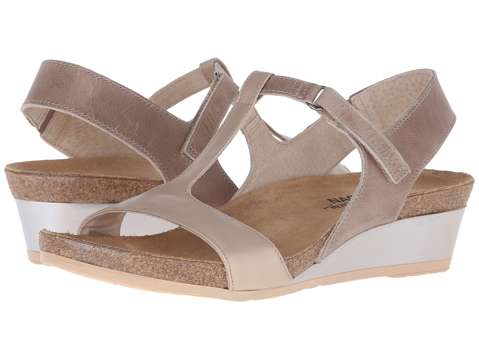 Naot - Unicorn (Khaki Beige Leather/Satin Gold Leather) Women's Sandals