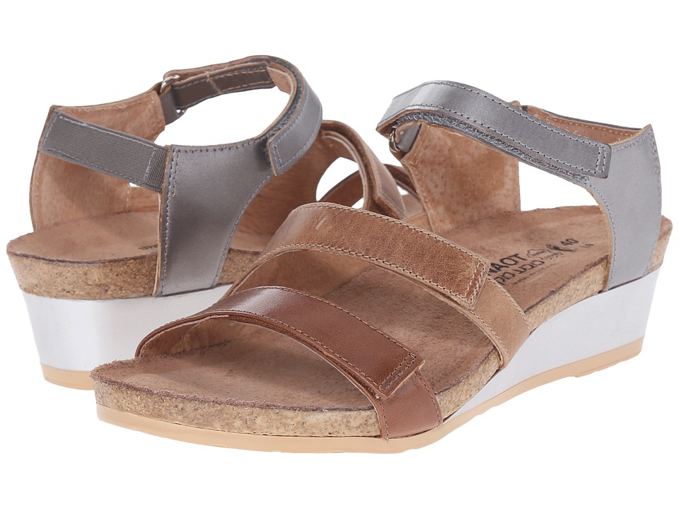 Naot Footwear Goddess (Maple Brown Leather/Latte Brown Leather/Mirror Leather) Women
