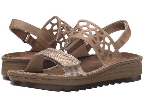 Naot Footwear Acacia - Beige Snake Leather/Khaki Beige Leather
