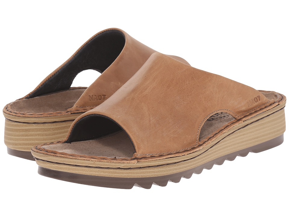 Naot Footwear Ardisia Latte Brown Leather Womens Sandals