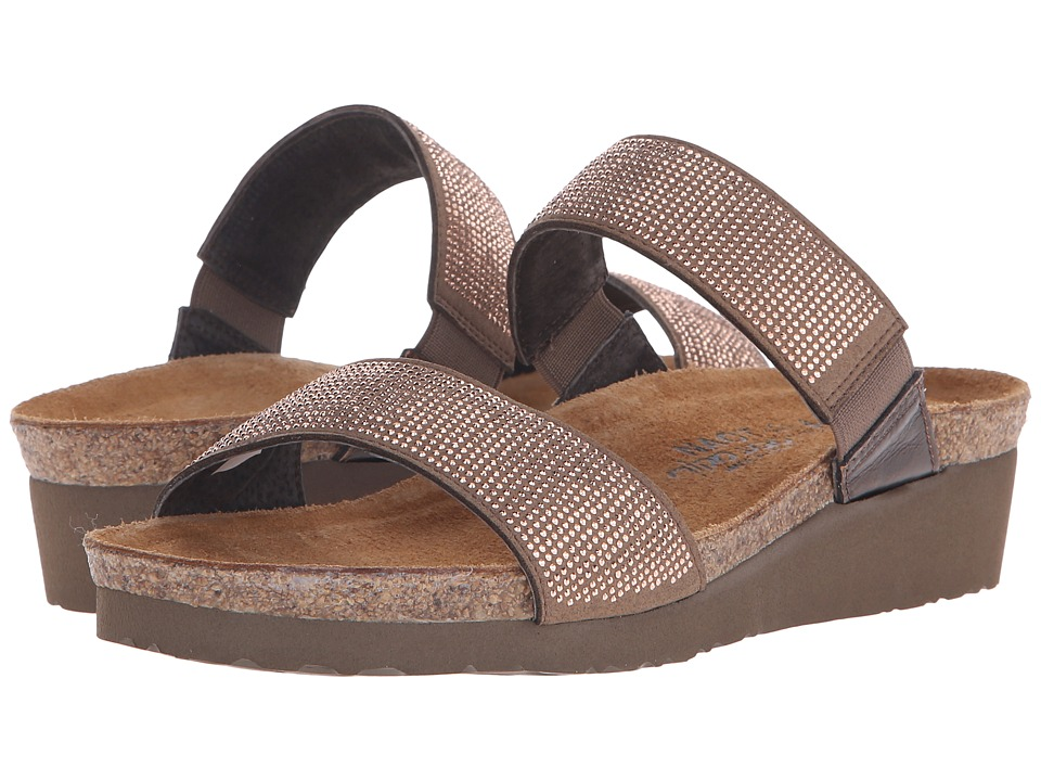 Naot Footwear Bianca Brown/Copper Rivets/Burnt Copper Leather Womens Sandals