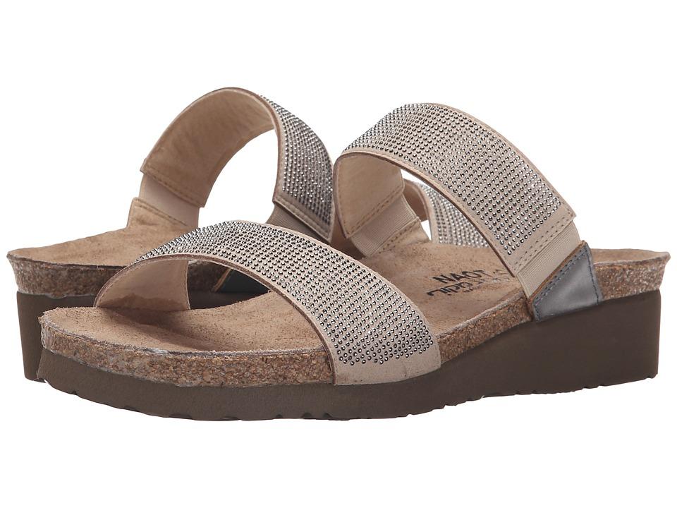 Naot Footwear Bianca Beige/Silver Rivets/Mirror Leather Womens Sandals