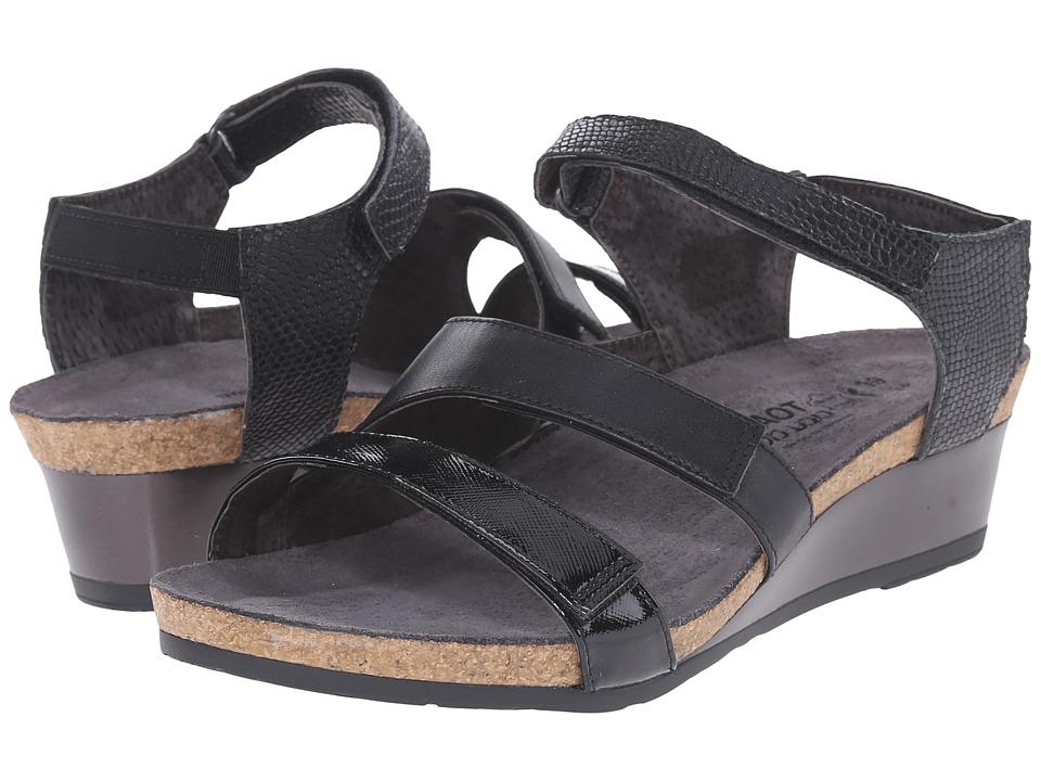 Naot Footwear Goddess (Black Luster Leather/Black Raven Leather/Black Snake Leather) Women