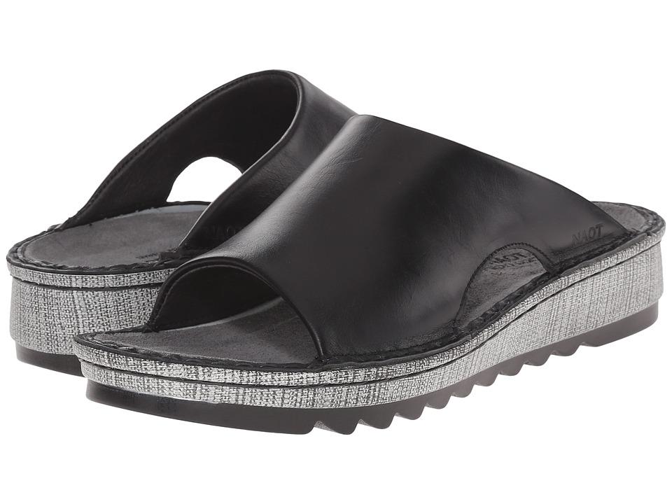 Naot Ardisia (Black Madras Leather) Sandals