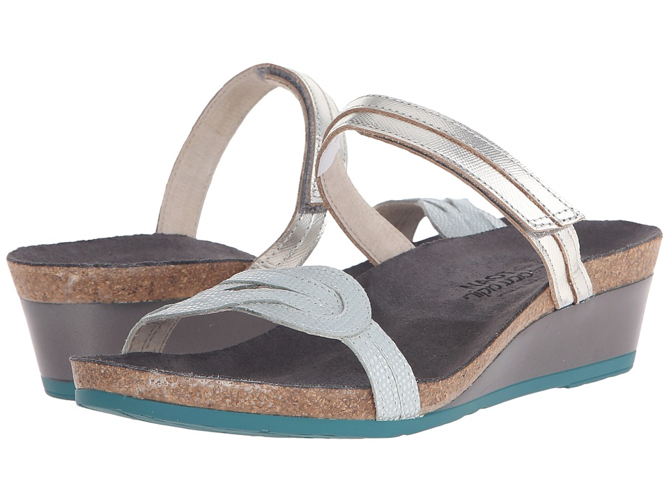 Naot Footwear Folklore (Silver Luster Leather/Sea Pearl Leather) Women
