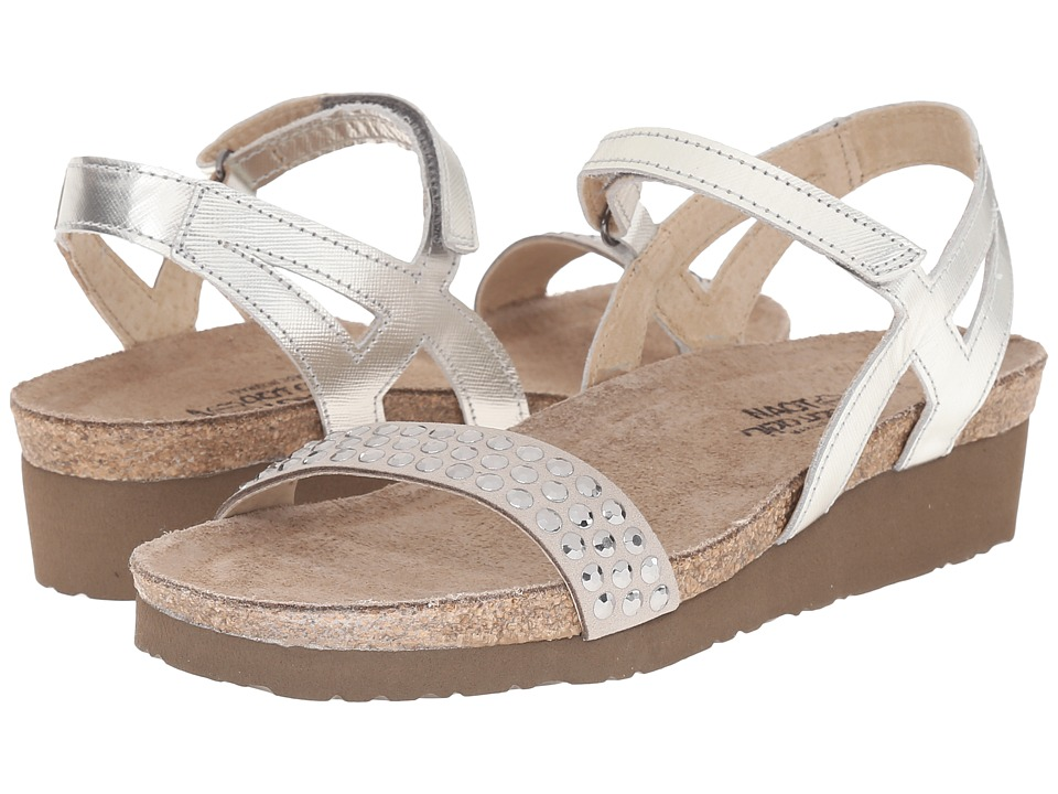 Naot Footwear - Lexi (Silver Luster Leather/Gray/Silver Rhinestones) Women