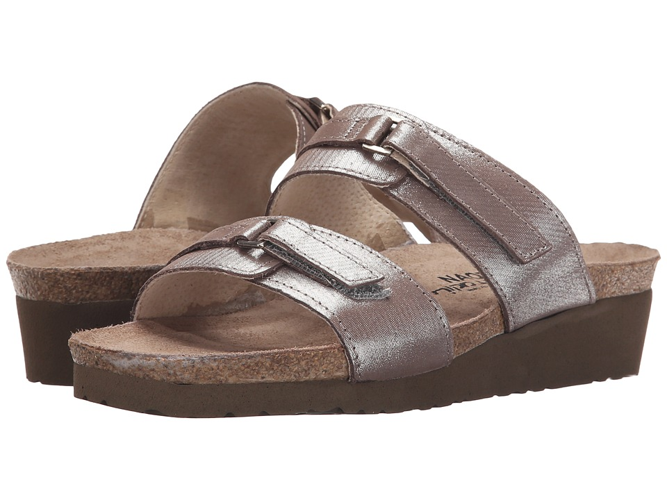 Naot Footwear Carly (Silver Threads Leather) Sandals