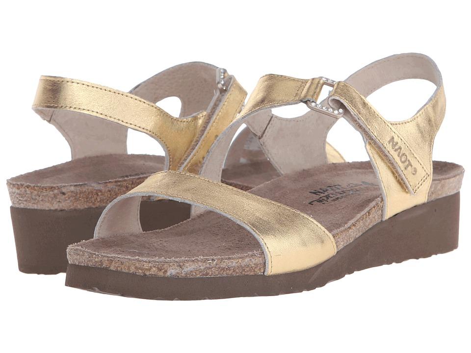 Naot Footwear Pamela (Gold Leather) Sandals