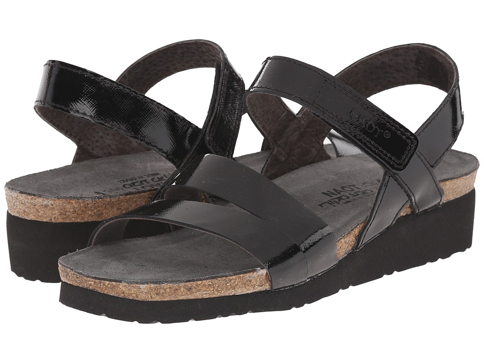 Naot - Kayla (Black Luster Leather) Womens Sandals