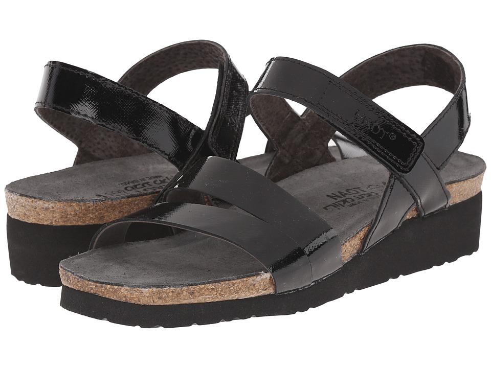 Naot Footwear Kayla (Black Luster Leather) Sandals