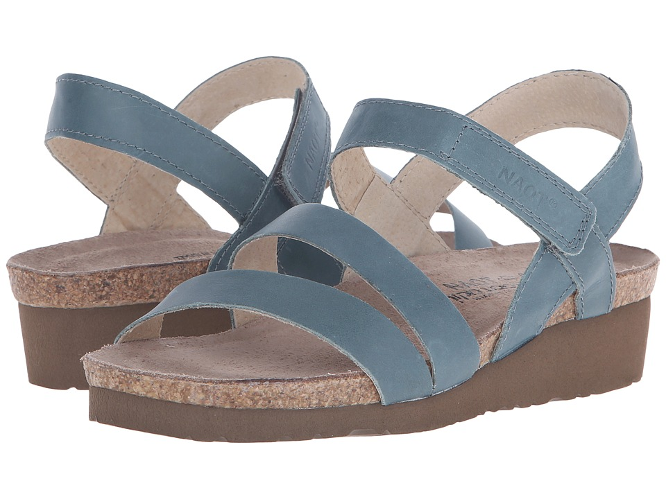 Naot Footwear Kayla (Sea Green Leather) Sandals
