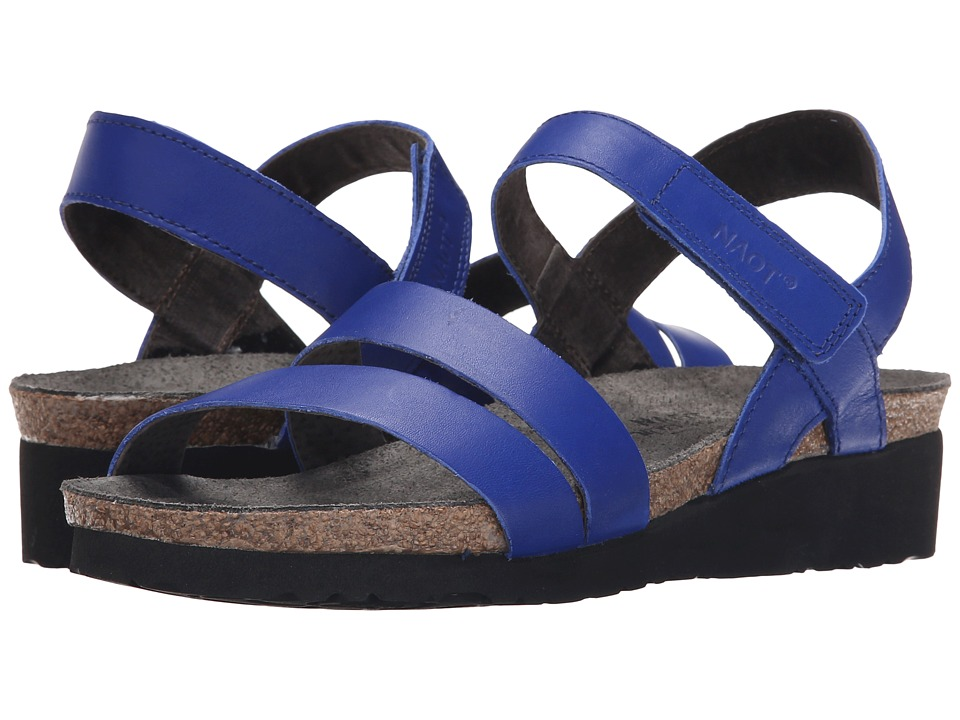 Naot Footwear Kayla (Royal Blue Leather) Sandals