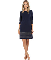 Jessica Howard - One-Piece 3/4 Sleeve Shift Dress with Heat Seal