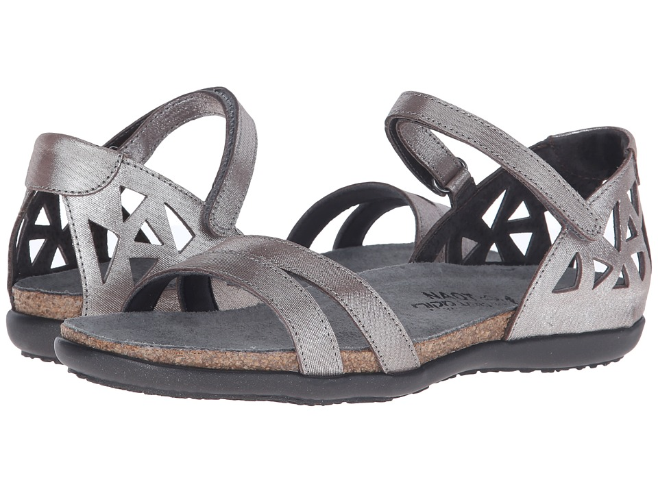 Naot Footwear Bonnie Silver Threads Leather Womens Sandals