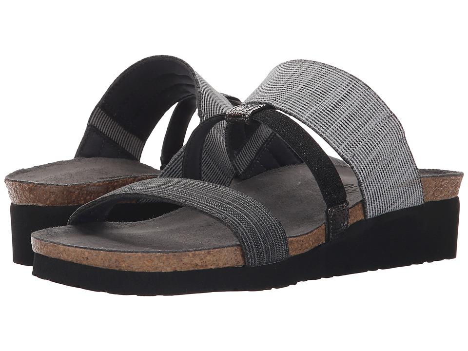 Naot Brenda (Light Gray Melange/Black Fabric/Black Sparkle Stretch/Silver) Sandals