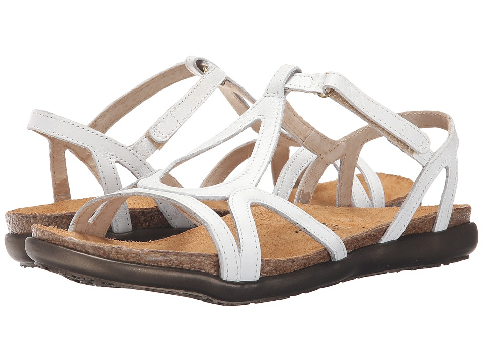Naot Dorith (White Leather) Sandals