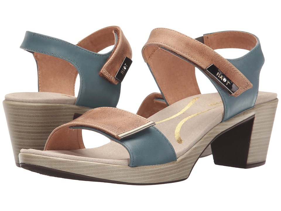 Naot Footwear - Intact (Latte Brown Leather/Sea Green Leather/Pewter) Women