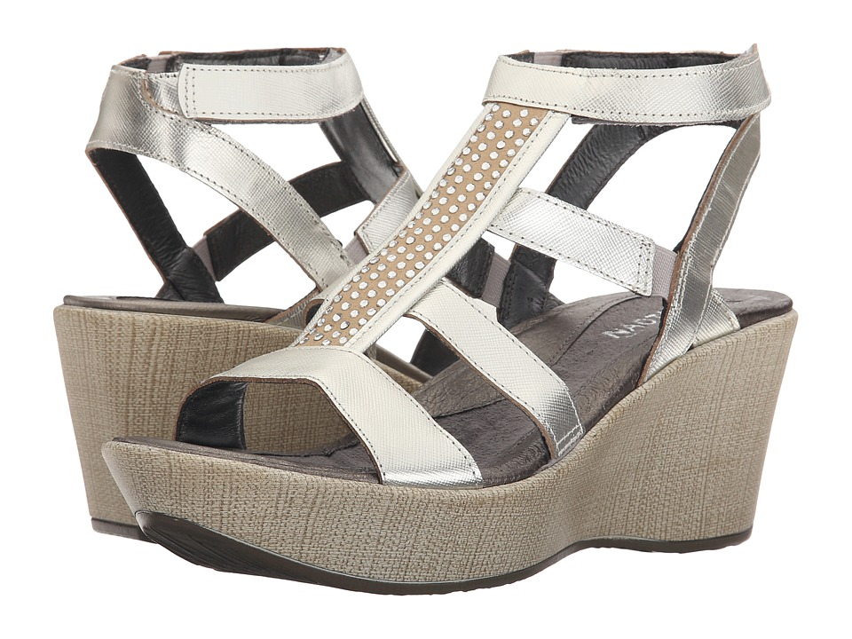 Naot - Mystery (Silver Luster Leather) Womens  Shoes