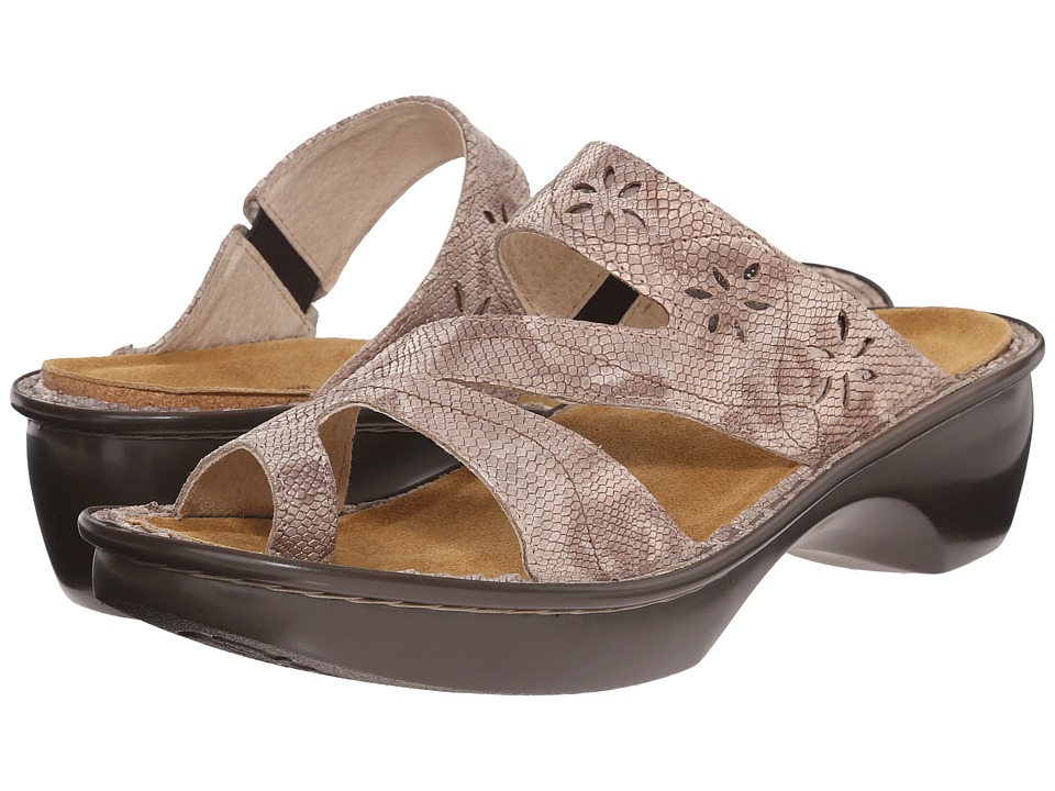 Naot Footwear Montreal (Beige Snake Leather) Women's Slide Shoes