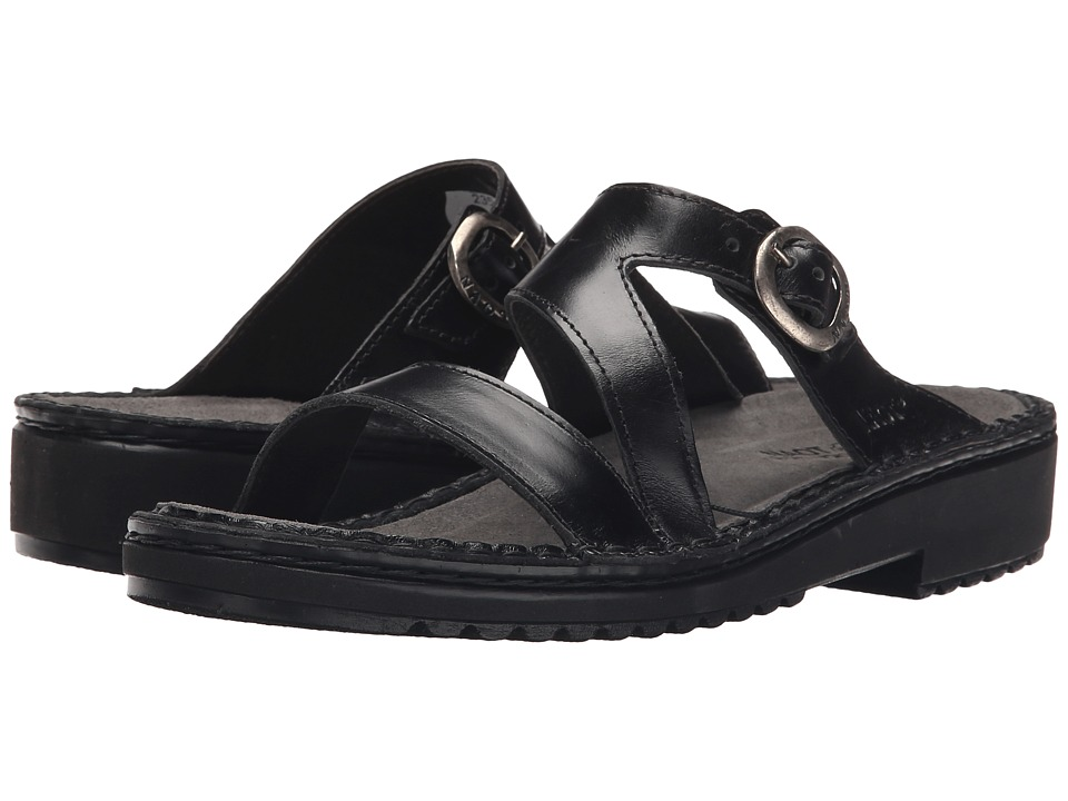 Naot Footwear Geneva Black Madras Leather Womens Sandals
