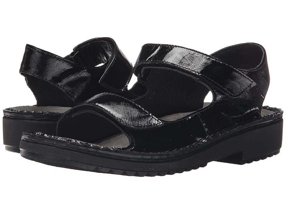 Naot Footwear Karenna (Black Luster Leather) Sandals