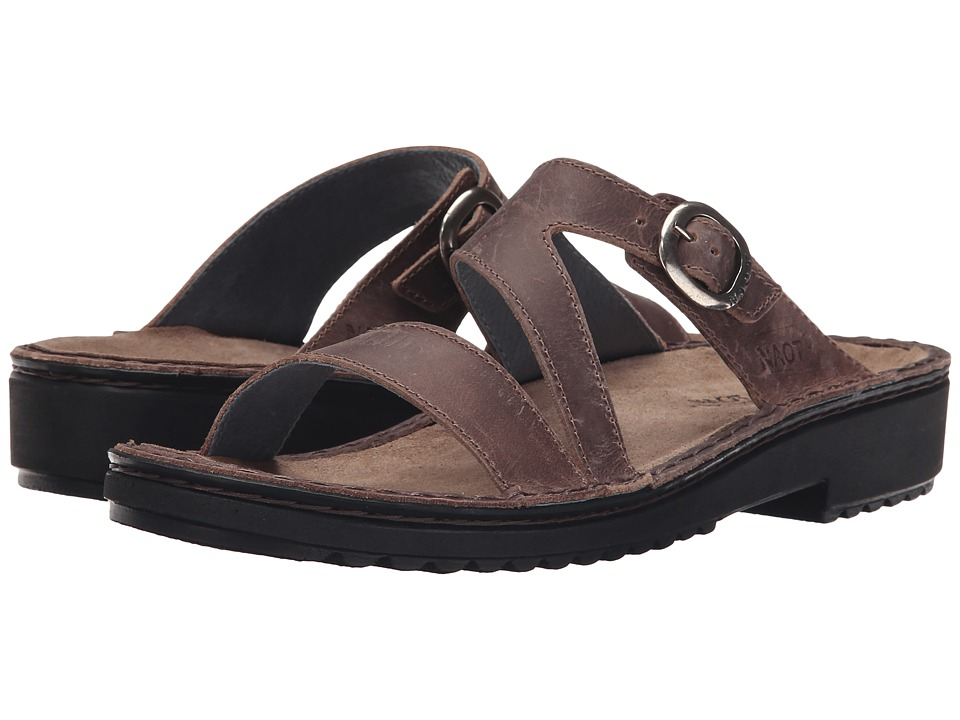 Naot - Geneva (Brown Haze Leather) Womens Sandals