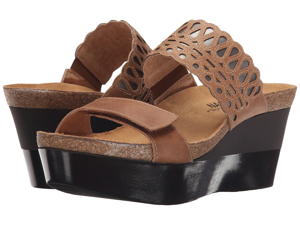 Naot - Rise (Latte Brown Leather/Mirror Leather) Women's Sandals