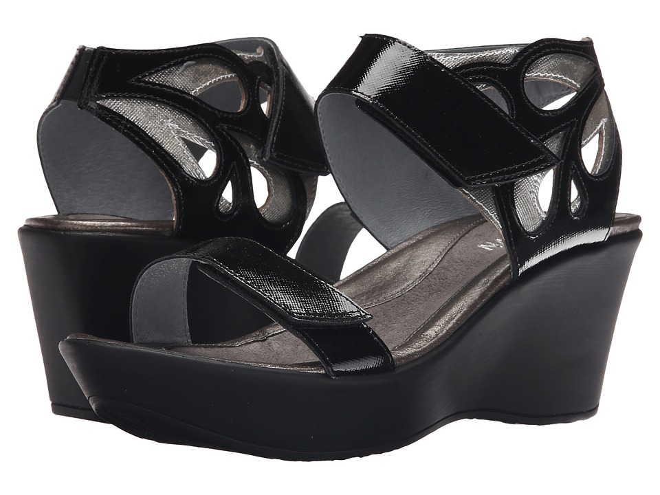 Naot Footwear Intrigue (Black Luster Leather/Silver Luster Leather) Women