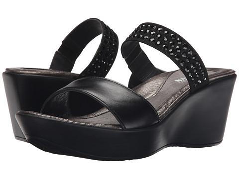 Naot Footwear Response - Black Madras Leather/Black/Black Rhinestones