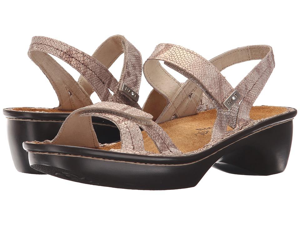 Naot Footwear Brussels Beige Snake Leather Womens Sandals