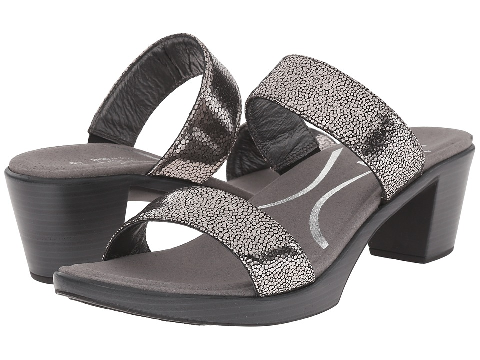 Naot Footwear Fate Silver Pebble Leather Womens Sandals